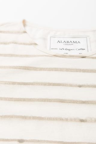 Alabama chanin stripe organic cotton casual dress 3
