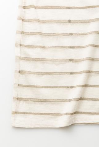 Alabama chanin stripe organic cotton casual dress 4
