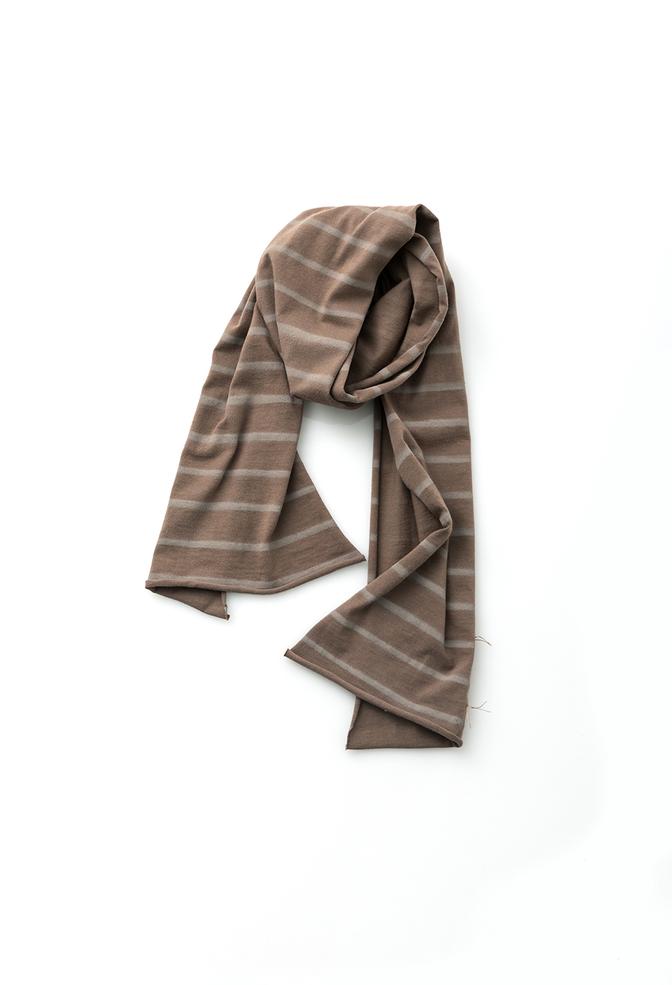 Alabama chanin stripe cotton scarf 3