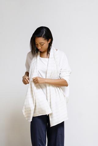 Alabama chanin stripe cotton scarf 1