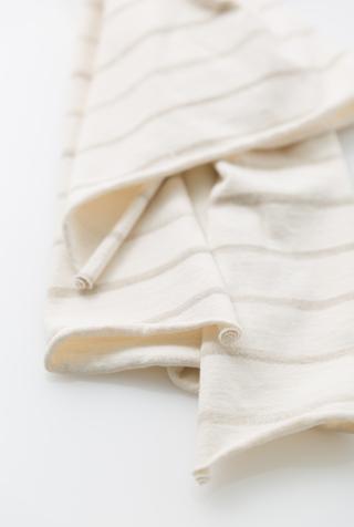 Alabama chanin stripe cotton scarf 5