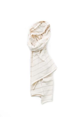 Alabama chanin stripe cotton scarf 4