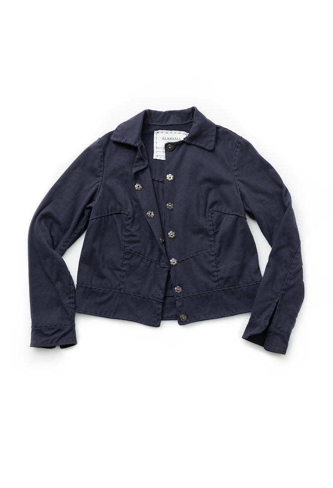 Alabama chanin cropped cotton jacket 2