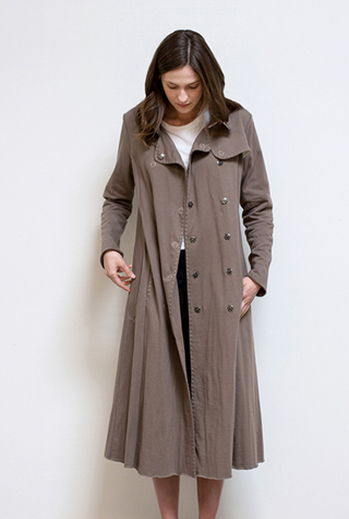 Alabama chanin double breasted trench coat 2