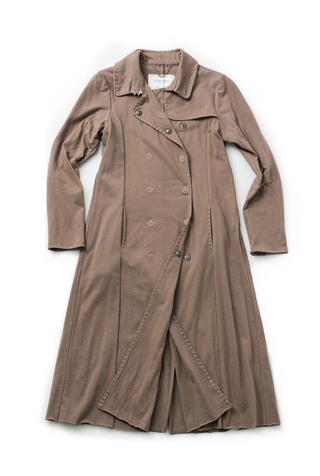 Alabama chanin double breasted trench coat 3