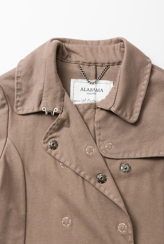 Alabama chanin double breasted trench coat 5