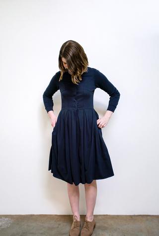 Alabama chanin womens pleated skirt dress 4
