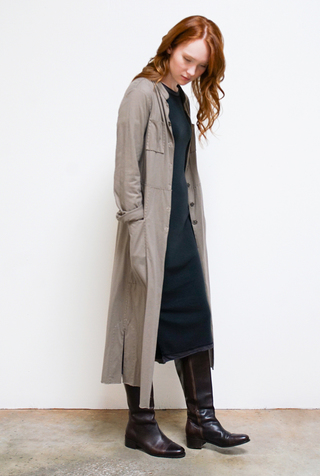 Alabama chanin cotton mid length coat 3