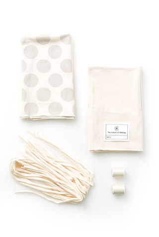 The school of making polka dot pillow diy sewing kit 1