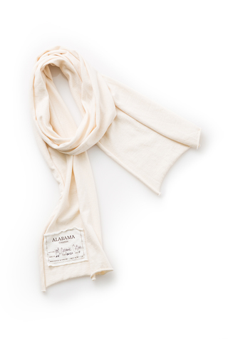 Alabama chanin organic cotton slim scarf 4