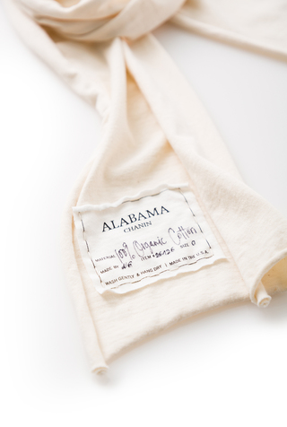 Alabama chanin organic cotton slim scarf 5