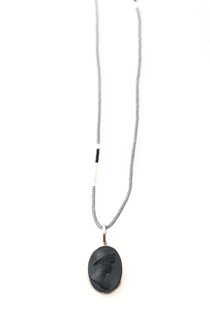 Jewelry   boy cameo necklace   black porcelain   marcie mcgolderick   abraham rowe 5