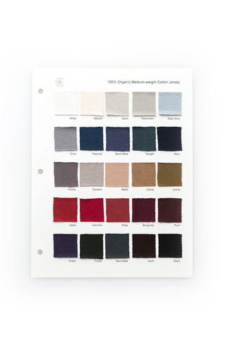 The school of making organic cotton jersey color card 1
